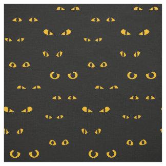 Tissu effrayant de motif de Halloween de yeux