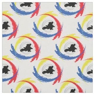 Tissu Emblème tricolore de motocross