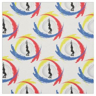 Tissu Emblème tricolore de sport de tennis (version