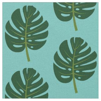 Tissu en feuille de palmier tropical d'impression