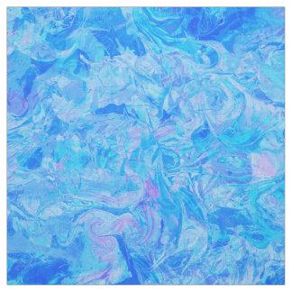 Tissu Épouser le motif chic de marbre bleu élégant
