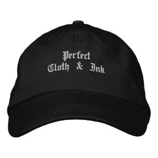 Tissu et encre parfaits casquette brodée