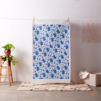 Tissu Étoile de David bleue d'aquarelle