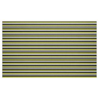 Tissu fait sur commande jaune et noir rayé