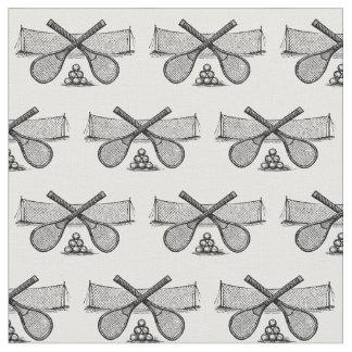 Tissu Filet vintage de tennis de sports, raquettes