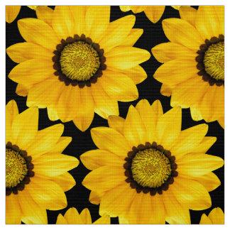 Tissu fleurs jaunes
