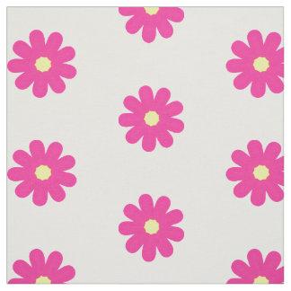 Tissu Fleurs roses sur le motif mignon blanc d'enfants