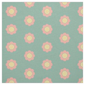Tissu Fleurs vintages de roses pâles et de jaune sur le