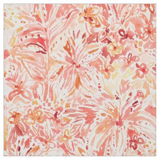 Tissu Floral Painterly de pêche de CONVOITISE de LIS