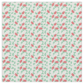 Tissu floral rouge de vignes
