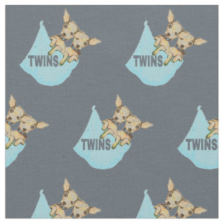 Tissu Garçons personnalisables de chiot de jumeau de