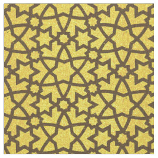 Tissu Grand or et noir d'arabesque