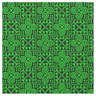 Tissu Grands vert de Bianca et noir