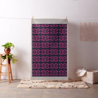 Tissu graphique rose