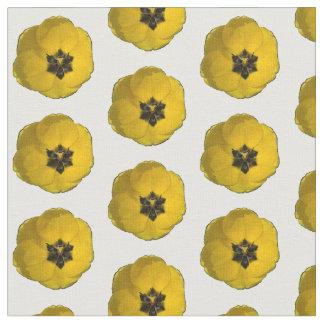 Tissu jaune bouleversé de tulipe