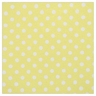 Tissu jaune de point de polka