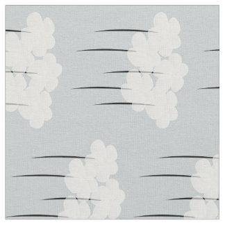 Tissu Joli motif blanc abstrait mignon d'anémones