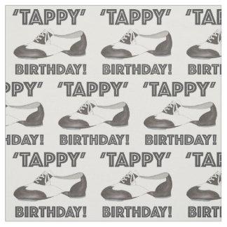Tissu La chaussure de danse d'anniversaire de Tappy