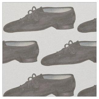Tissu La chaussure grise noire de danse de jazz chausse