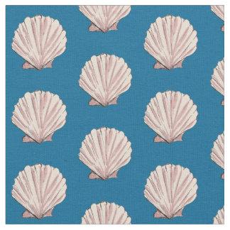 Tissu Le feston Shell rose et bleu modèlent