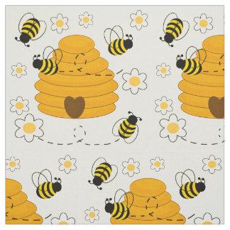 Tissu Le miel gaffent floral jaune ensoleillé de ruche