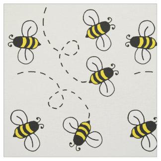 Tissu Le miel gaffent la nature jaune ensoleillée
