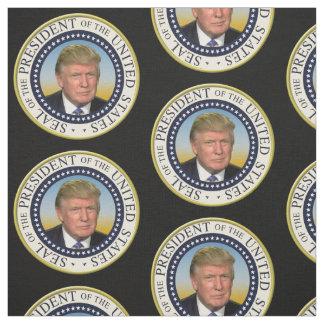 Tissu Le Président Trump Photo Presidential Seal