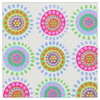 Tissu Le résumé fleurit le motif coloré