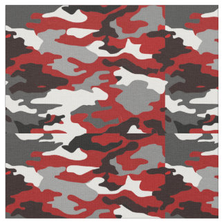 Tissu Le rouge ombrage Camo