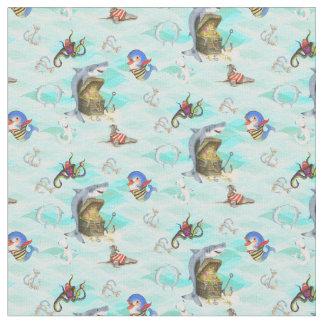 Tissu Le trésor du requin