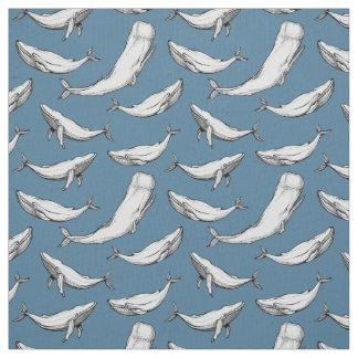 Tissu Les baleines sont partout