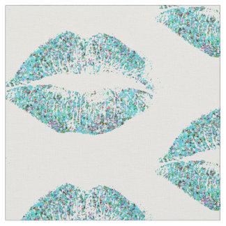 Tissu Lèvres multicolores #30 de parties scintillantes