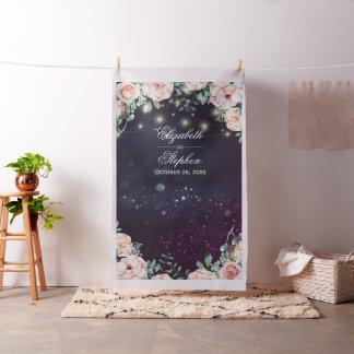 Tissu Lumières florales de ficelle de contexte de cabine