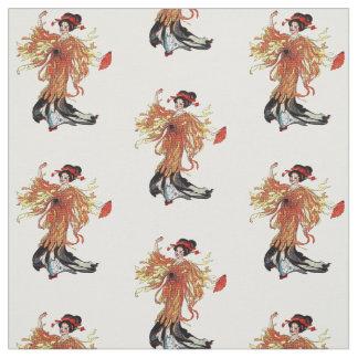 Tissu Madame japonaise Floral Fabric de fleur de