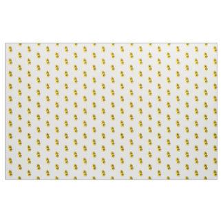 Tissu Marguerites jaunes tandem