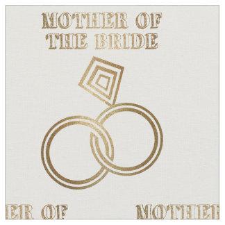 Tissu Mère de épouser romantique d'anneaux d'or de jeune