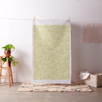 Tissu métallique floral de motif de notes de