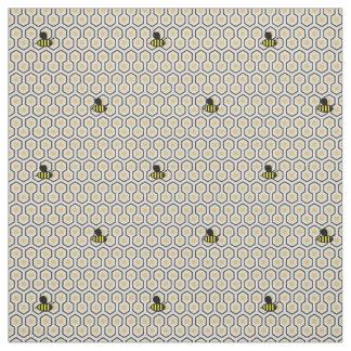 Tissu Métier d'abeilles et d'enfants de nid d'abeilles