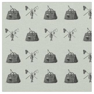 Tissu Métier vintage de pêche de mouche