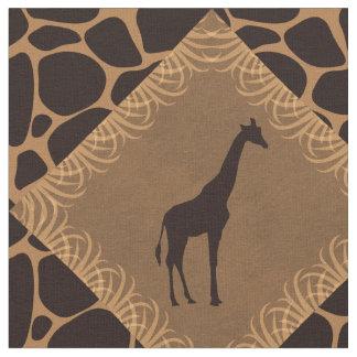 Tissu Modèle de diamant de girafe et de poster de animal