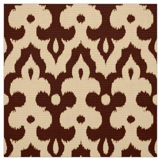 Tissu Motif, Brown et Tan de damassé d'Ikat de Marocain