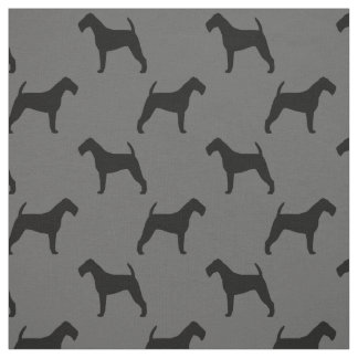 Tissu Motif de silhouettes de Terrier irlandais