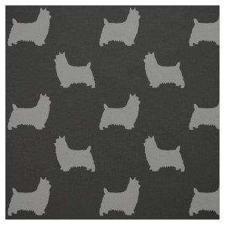 Tissu Motif de silhouettes de Terrier soyeux