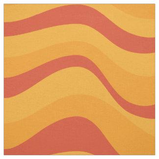 Tissu Motif de vagues dans des couleurs jaune-orange