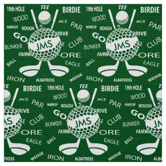 Tissu Motif décoré d'un monogramme pour le golfeur