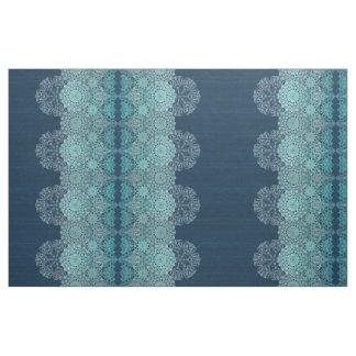 Tissu Motif lacé élégant de turquoise
