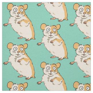 Tissu Motif mignon de hamster