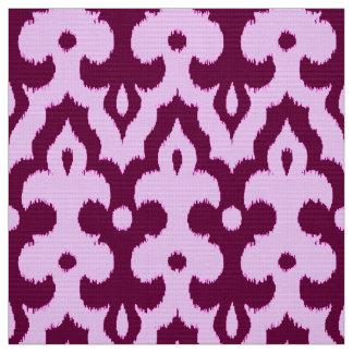 Tissu Motif, prune et orchidée de damassé d'Ikat de