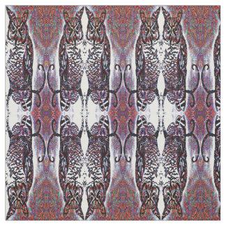 Tissu Motif reflété décoratif de hibou