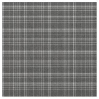Tissu Motif rustique de tartan gris